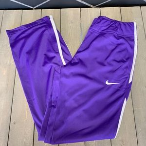 Womens Nike Sweatpants Team Track Overtime Purple